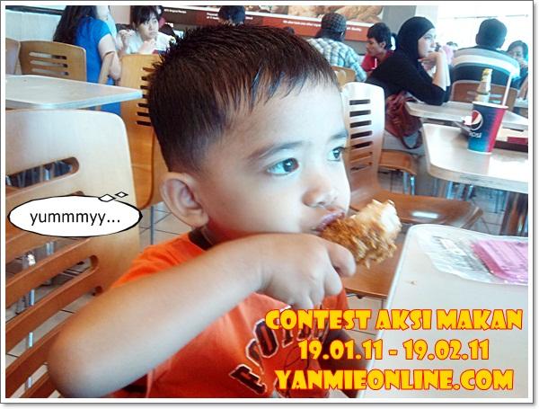 contest aksi makan