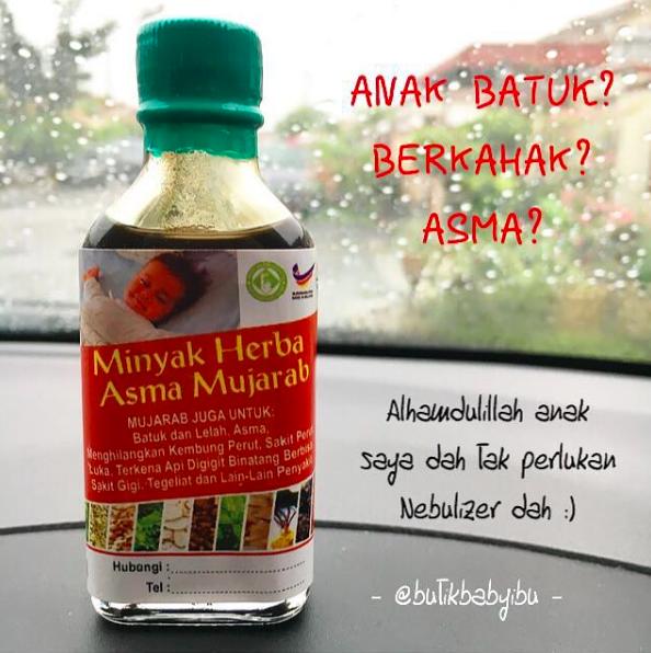 Minyak Herba Asma Mujarab Penawar Asma, batuk, berkahak
